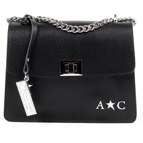 Andrew Charles Womens Handbag Black MELODY