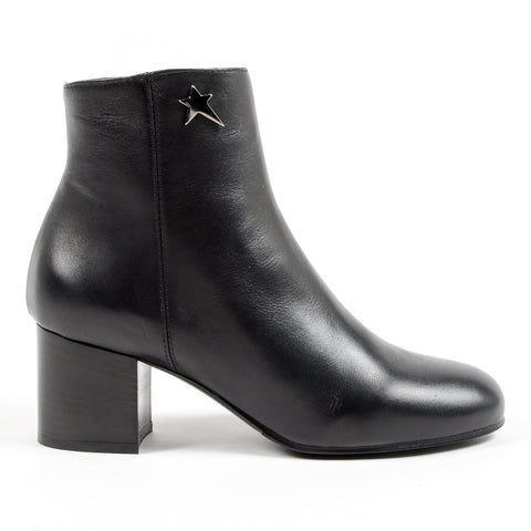 Andrew Charles Womens Heeled Ankle Boot Black COOPER