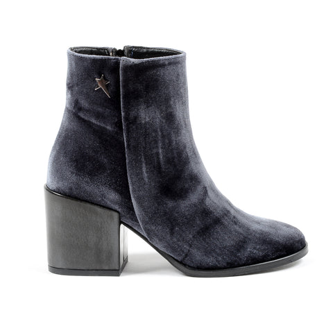 Andrew Charles Womens Heeled Ankle Boot Grey CHARLIZE