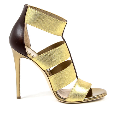 Andrew Charles Womens Sandal Gold GAIA