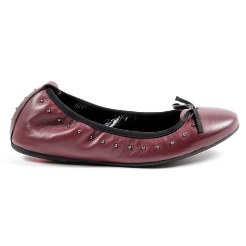 Andrew Charles Womens Soft Ballerina Bordeaux ALICIA