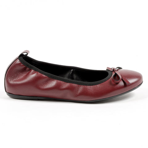 Andrew Charles Womens Soft Ballerina Bordeaux GWEN