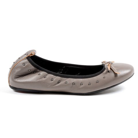 Andrew Charles Womens Soft Ballerina Taupe ALICIA