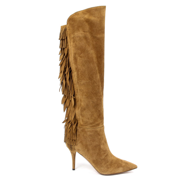 Aquazzura Firenze Womens High Boot JAGGER 85 COGNAC