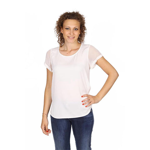 Armani Collezioni ladies shirt short sleeve without buttons RMC13T RM332 101