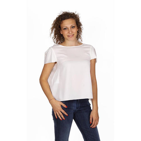 Armani Collezioni ladies shirt short sleeve without buttons RMC17T RM332 101