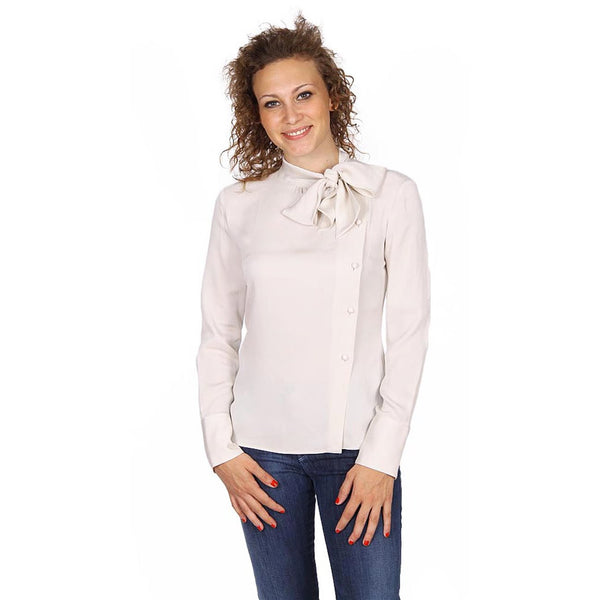 Armani Collezioni ladies shirt with bow on the neck PMC26T PM332 103