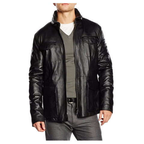 Armani Collezioni mens leather jacket PCG82P PCP81 999
