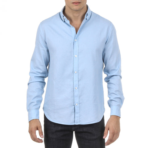 Armani Jeans Mens Shirt Long Sleeves Light Blue 3Y6C21 6N0MZ 1504
