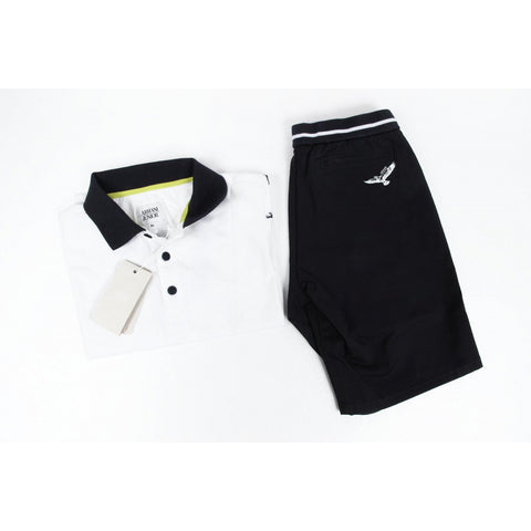 Armani Junior boys set polo & short pant C4T02 RC 1X