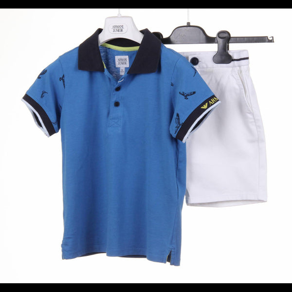 Armani Junior boys set polo & short pant CXT03 RC DA