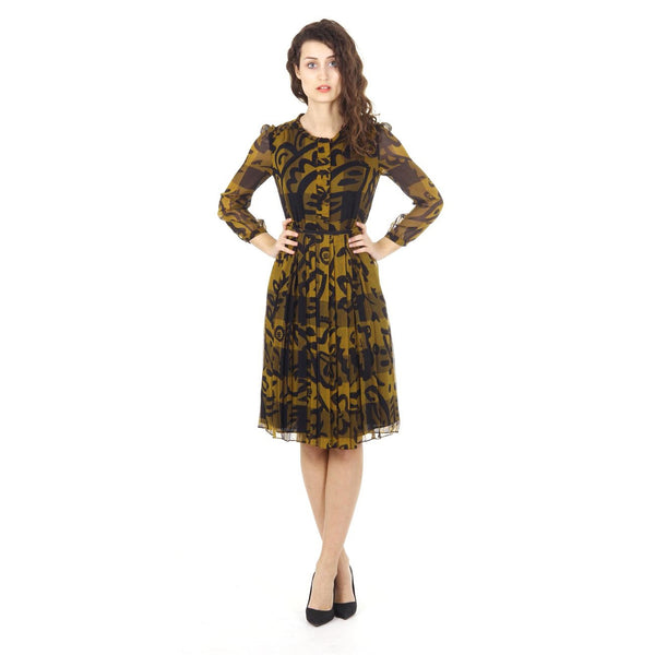 Burberry Brit ladies pleat mulberry silk dress Elenor 3956621