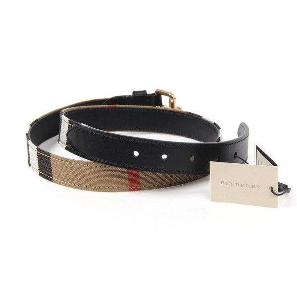 Burberry London ladies check & leather belt Cotswold 3959968