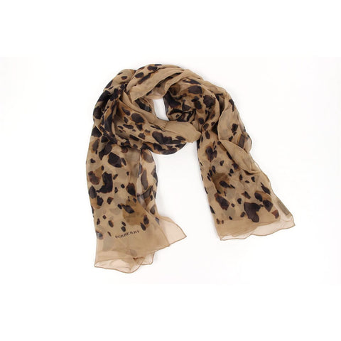 Burberry London ladies silk scarf Animal Print 3955764