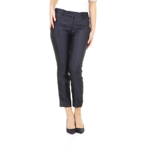 Burberry London ladies wool & mulberry silk crop trousers Odell 3957789