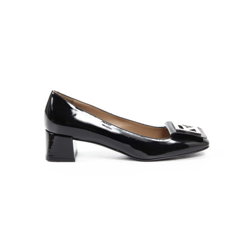 Fratelli Rossetti Womens Kitten Heel 65154 027 SOFTY PAINT 01 NERO