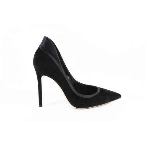 Gianvito Rossi Womens Pump 26870 CAMOSCIO+RASO BLACK