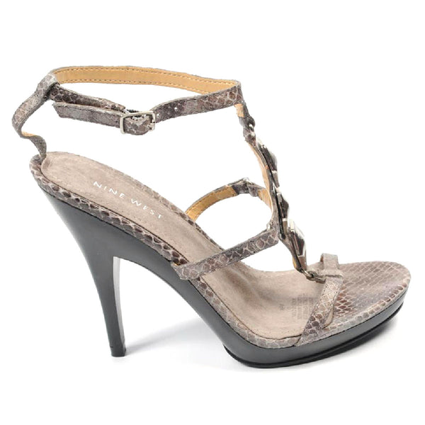 Nine West Womens Ankle Strap Sandal NWVENCENTIO BROWN MULTI