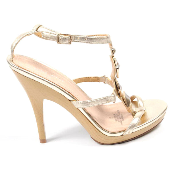 Nine West Womens Ankle Strap Sandal NWVENCENTIO LIGHT GOLD