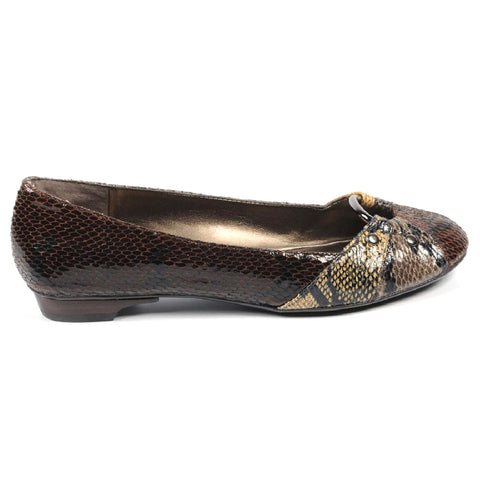 Nine West Womens Ballerina NWLIGHTNING BROWN MULTI