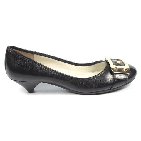 Nine West Womens Heeled Ballerina NWUPGRADEYA BLACK