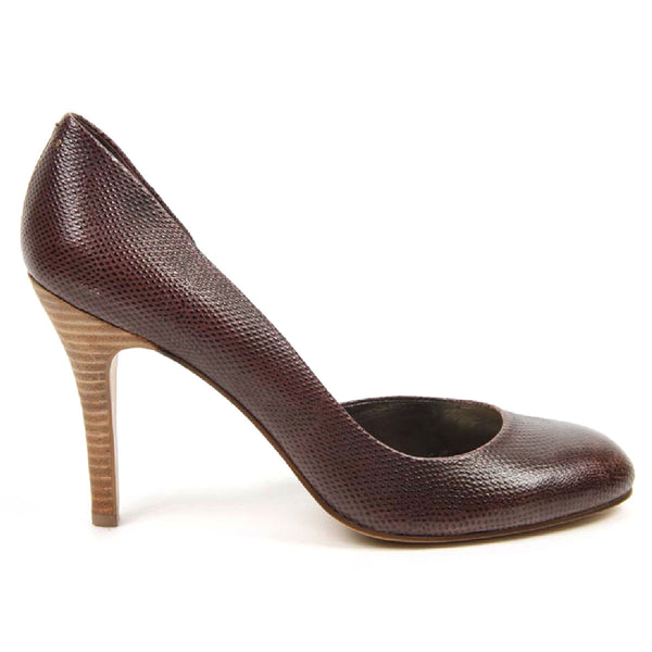 Nine West Womens Pump Open Side NWVISHNU DARK BROWN