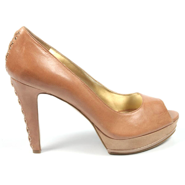 Nine West Womens Pump Open Toe NWLILACIT NATURAL