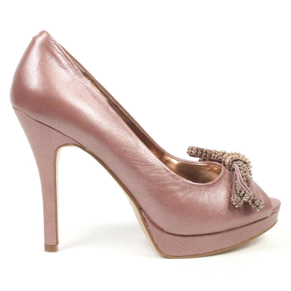 Nine West Womens Pump Open Toe NWTHISTLE PINK