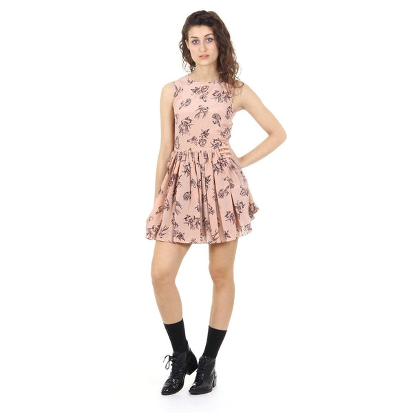 Red Valentino ladies dress IR3VA0A0 1GY 377 NUDO
