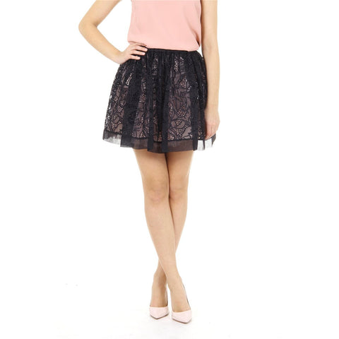 Red Valentino ladies skirt IR3RA05A 1HB 0NO NERO