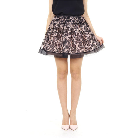 Red Valentino ladies skirt IR3RA05A 1HB D13 NERO NUDE