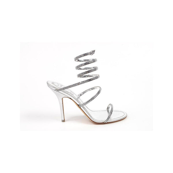 Rene Caovilla ladies sandals C4290 Nappa Silk Silver