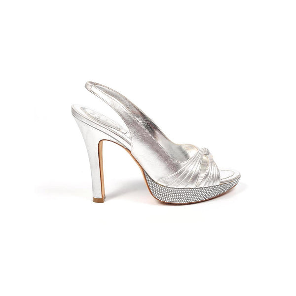 Rene Caovilla ladies sandals C4905 Nappa Silk Silver