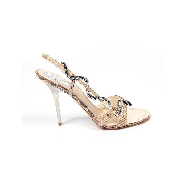 Rene Caovilla ladies sandals C5100 Python Grey