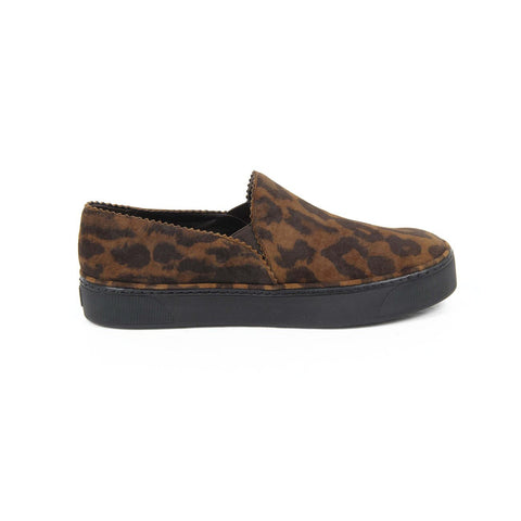 Stuart Weitzman Womens Slip On Sneaker NUGGETS JAGUAR SUEDE WALNUT