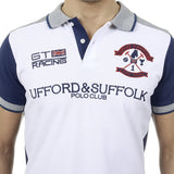 Ufford & Suffolk Polo Club Mens Polo Short Sleeves US001 WHITE