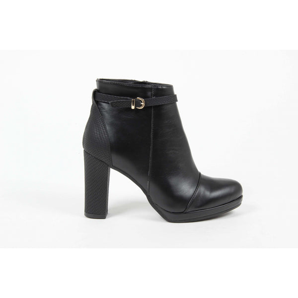 V 1969 Italia Womens Ankle Boot 6853 P. SER. NERO
