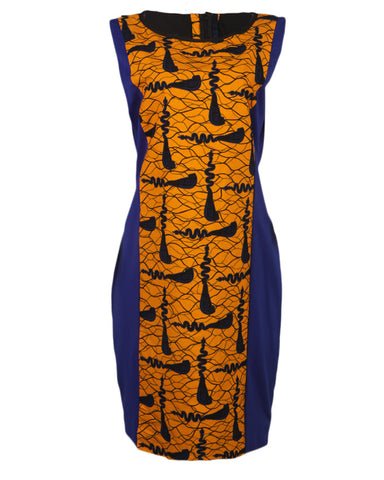 Comfort Stevens Sleeveless Ankara Sienna Dress for Ladies