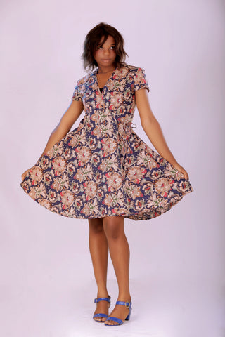Comfort Stevens Ankara Flair Design Dress for Ladies