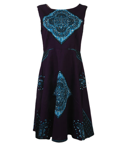 Comfort Stevens Sleeveless Ankara Gown for Ladies