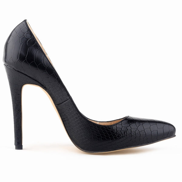 Classic Sexy Pointed Toe High Heels Women Pumps Shoes Faux snake Spring Brand Wedding Pumps Big Size 35-42 5 Color 302-1Snake