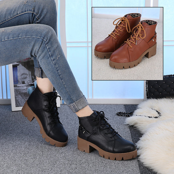 High Quality Fashion Women Boots Square Heel Platforms Zapatos Mujer PU Leather Thigh High Pump Boots Shoes Free Shipping