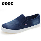 GOGC New Arrival Slipony Men Fashion Men Sneakers Flats Casual Shoes Denim Canvas Shoes Nice Comfortable Men Shoes Loafers