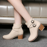 Autumn and winter women shoes vintage Europe star fashion women high heels Ankle boots Snow short boots zipper plus size 34-43