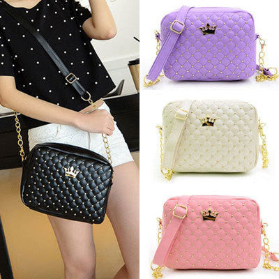 Women Bag Fashion Women Messenger Bags Rivet Chain Shoulder Bag High Quality PU Leather Crossbody N0310