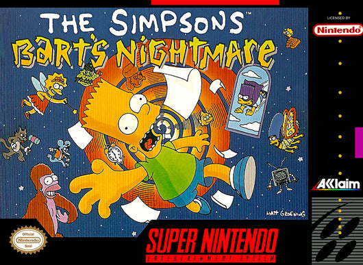 Simpsons Bart nightmare - SNES