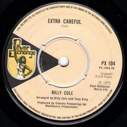 Billy Cole (3) : Extra Careful / Bump All Night (7