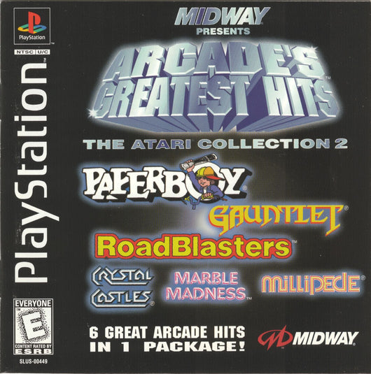 Arcade Greatest Hits: Atari Collection 2 - PS1