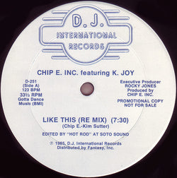 Chip E Featuring K-Joy - Like This 7
