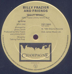 Billy Frazier And Friends* : Billy Who? (12